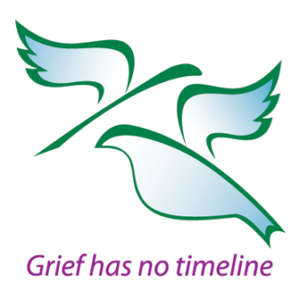Ridge Meadows Hospice Society Dove Logo grief has no timeline