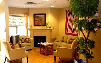 Living room at McKenney Creek Hospice