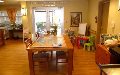 Dining room at McKenney Creek Hospice