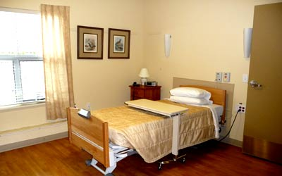 Resident room at McKenney Creek Hospice