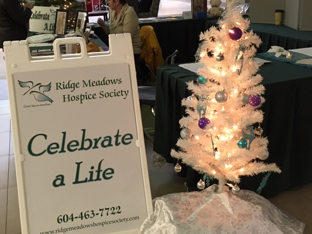 Celebrate a Life tree display at Haney Place Mall in 2016